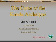 The Curse of the Kandu Archetype - Desert Managers Group