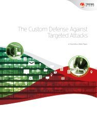The Custom Defense Against Targeted Attacks - Trend Micro