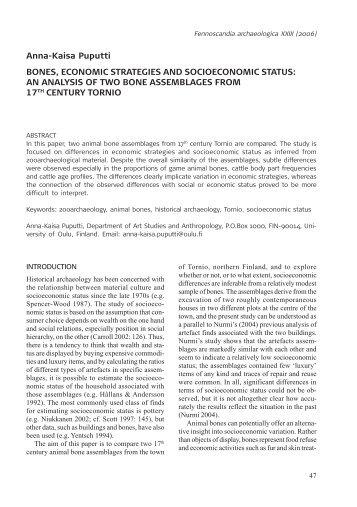 Anna-Kaisa Puputti BONES, ECONOMIC STRATEGIES AND ...