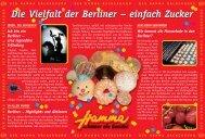 Die Vielfalt der Berliner – einfach Zucker - Hamma