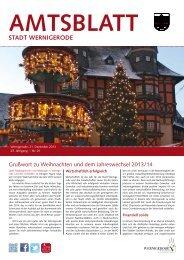 Amtsblatt der Stadt Wernigerode - 01 / 2014 (5.79 MB)