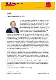 Tag der Selbstverwaltung 2013 - und Sozialpolitik - Ver.di
