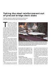 Taking the steel reinforcement out of precast bridge deck slabs