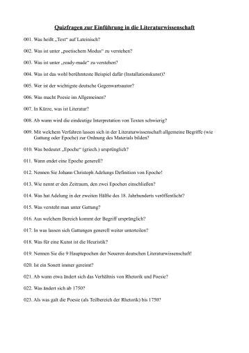 Quizfragen Allgemeinwissen