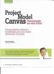 Faça o download do artigo Project Model Canvas - PM Tech