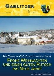 GABLITZER - ÖVP Gablitz - Volkspartei Niederösterreich