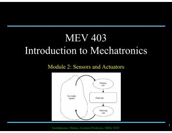 MEV 403 Introduction to Mechatronics