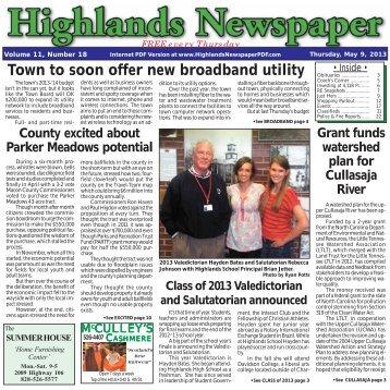 May 9, 2013 - Highlands NC