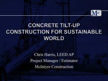 Chris Harris, LEED AP Project Manager / Estimator McIntyre ...