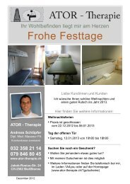 Frohe Festtage - ATOR - Therapie