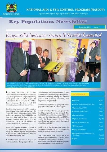 NASCOP MARPs Newsletter 2013 Issue 2 - Kenya National AIDS ...