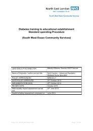 Diabetes training to the educational establishment SoP for SWECS ...