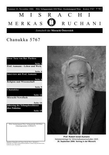 Merkas Ruchani, Ausgabe 22, Chanukka 5767 (1 MB) - Misrachi ...