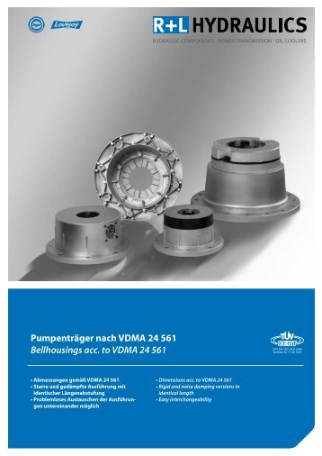 Pumpenträger nach VDMA 24 561 Bellhousings acc. to VDMA 24 561