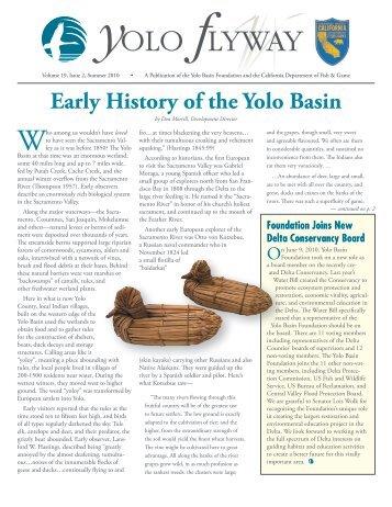 Volume 19, Issue 2, Summer 2010 - Yolo Basin Foundation