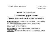 Präsentation »ADHS – Faktencheck Arzneimittel gegen ADHS - DGSP