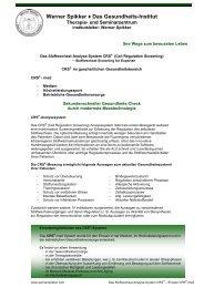 Das Stoffwechsel-Analyse-System CRS - Einsatz CRS-med