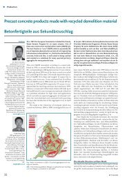 Precast concrete products made with recycled ... - Bauverlag