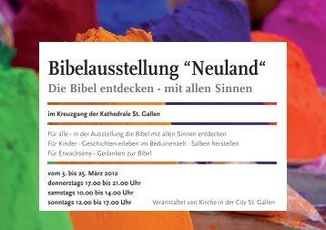 """Bibelausstellung """"Neuland"""" - Bibelwerk"""