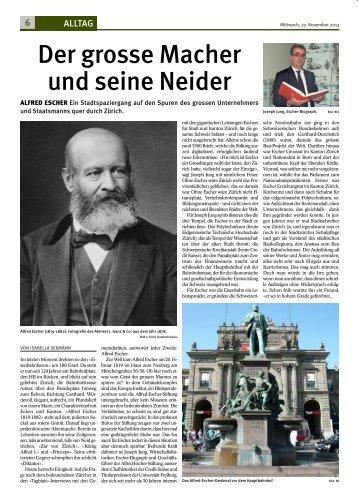 Der grosse Macher und seine Neider - Alfred Escher-Stiftung