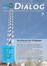 Garching im Dialog, Ausgabe 1/2013 - CSU