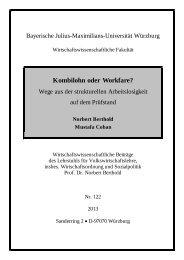 Kombilohn oder Workfare? - Universität Würzburg