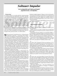 Soltauer Impulse (PDF) - Deutsche Gesellschaft für Soziale Psychiatrie