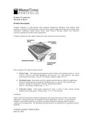 Compact Laminate Technical Data June 10, 2013 ... - Wilsonart