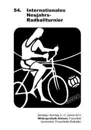 Programmheft - Frauenfelder Radballer