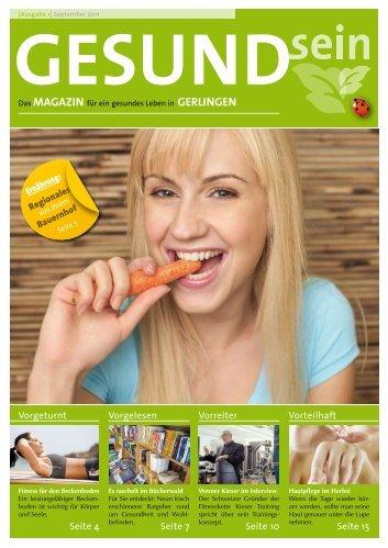MAGAZIN für ein gesundes Leben in GerlINGeN - Gesundsein, das ...