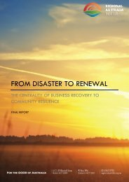 Download 'From Disaster to Renewal' - Regional Australia Institute