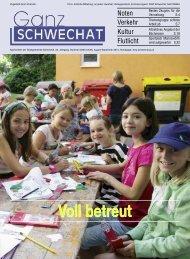 August-September Ausgabe 2013 - Stadtgemeinde Schwechat