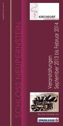 Veranstaltungen September 2013 bis Februar 2014 - Kirchdorf