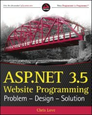 ASP.NET 3.5 Website Programming Problem-Design ... - sunsorady