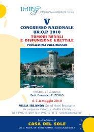 v congresso nazionale ur.op 2010 - Casa del sole, Clinica ...