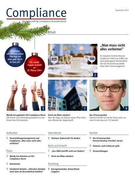 (PDF)   Ausgabe Dezember 2013/Januar 2014 - Compliance
