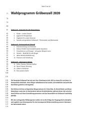 Wahlprogramm Gröbenzell 2020 - CSU