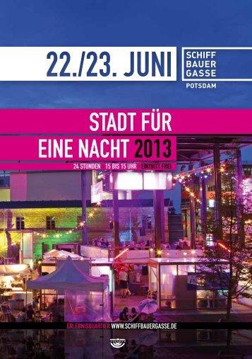 STADT FÜR EINE NACHT 2013 - Schiffbauergasse