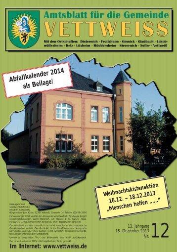 Amtsblatt online - Gemeinde Vettweiß