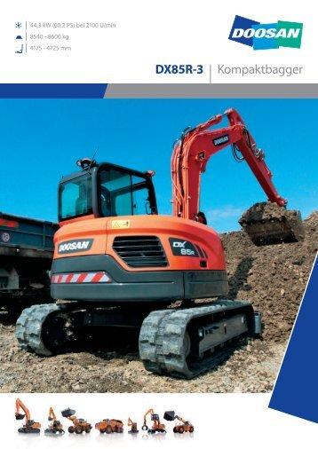 DX85R-3 | Kompaktbagger - Doosan Construction Equipment EMEA