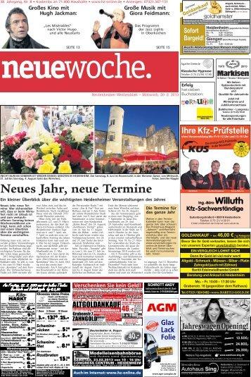 Neues Jahr, neue Termine - Heidenheimer Zeitung