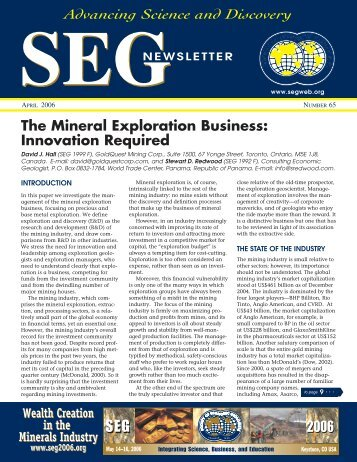 Download - Society of Economic Geologists