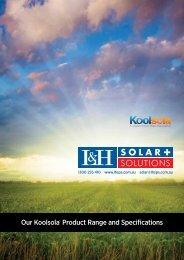 download the koolsola spec sheet - Edwards Energy