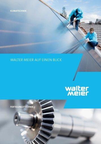 WALTER MEIER Auf EInEn BLIck - Nortec