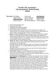 Protokoll från styrelsemöte i