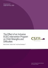 The Effect of an Inclusive ECEC-intervention Program on Child ...