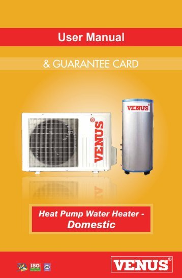 Domestic-user-manual - Heat pump water Heater