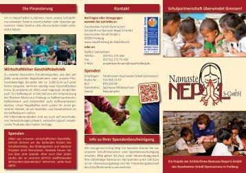 Flyer Namaste Nepal S-GmbH