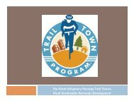 The Great Allegheny Passage Trail Towns: Rural Sustainable ...