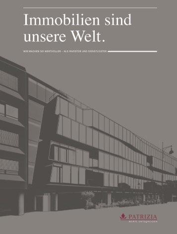 PATRIZIA Unternehmensbroschüre - PATRIZIA Immobilien AG
